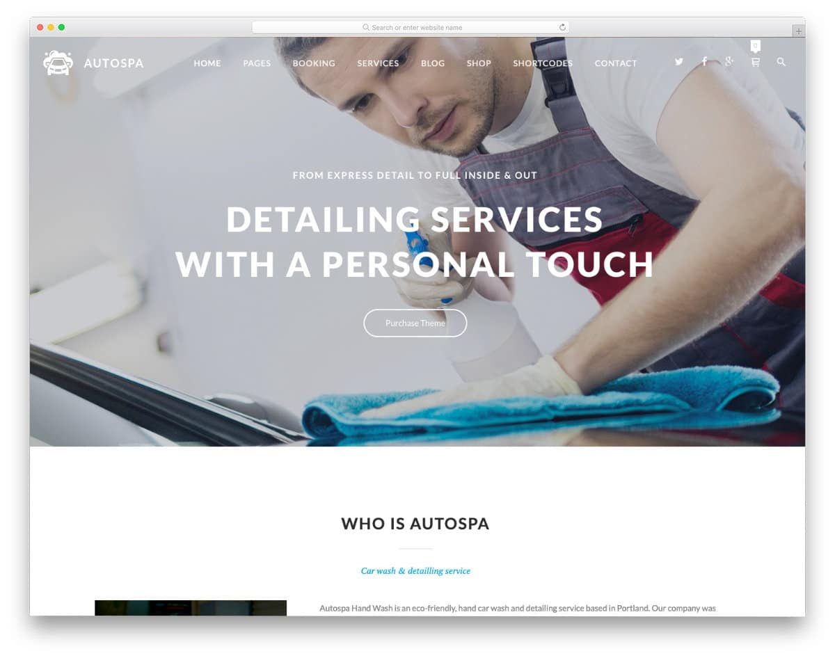 ultra-clean auto detailing website template