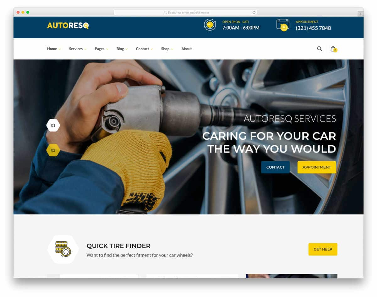 auto repair and other services website template