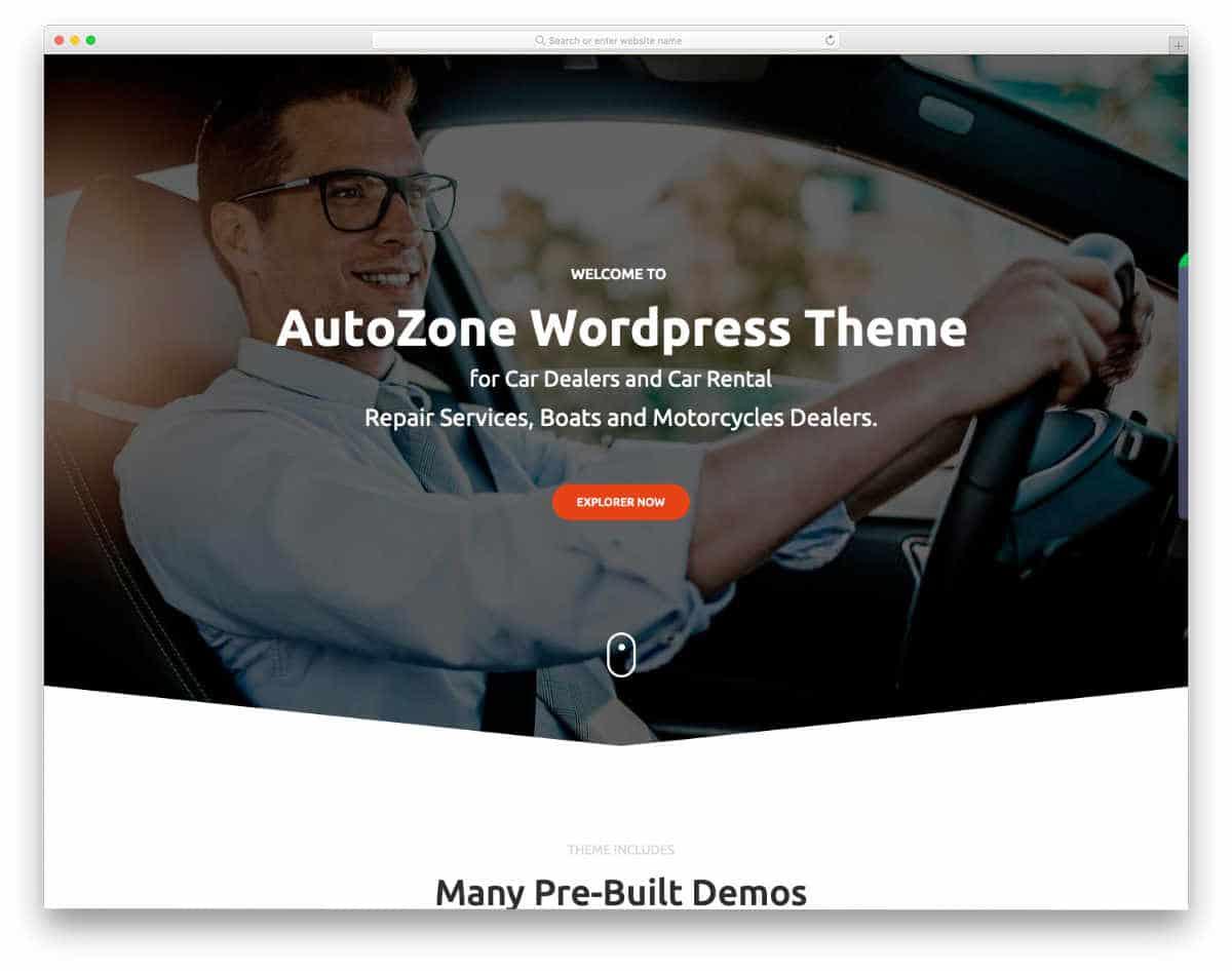 car dealer website template with creative design elements