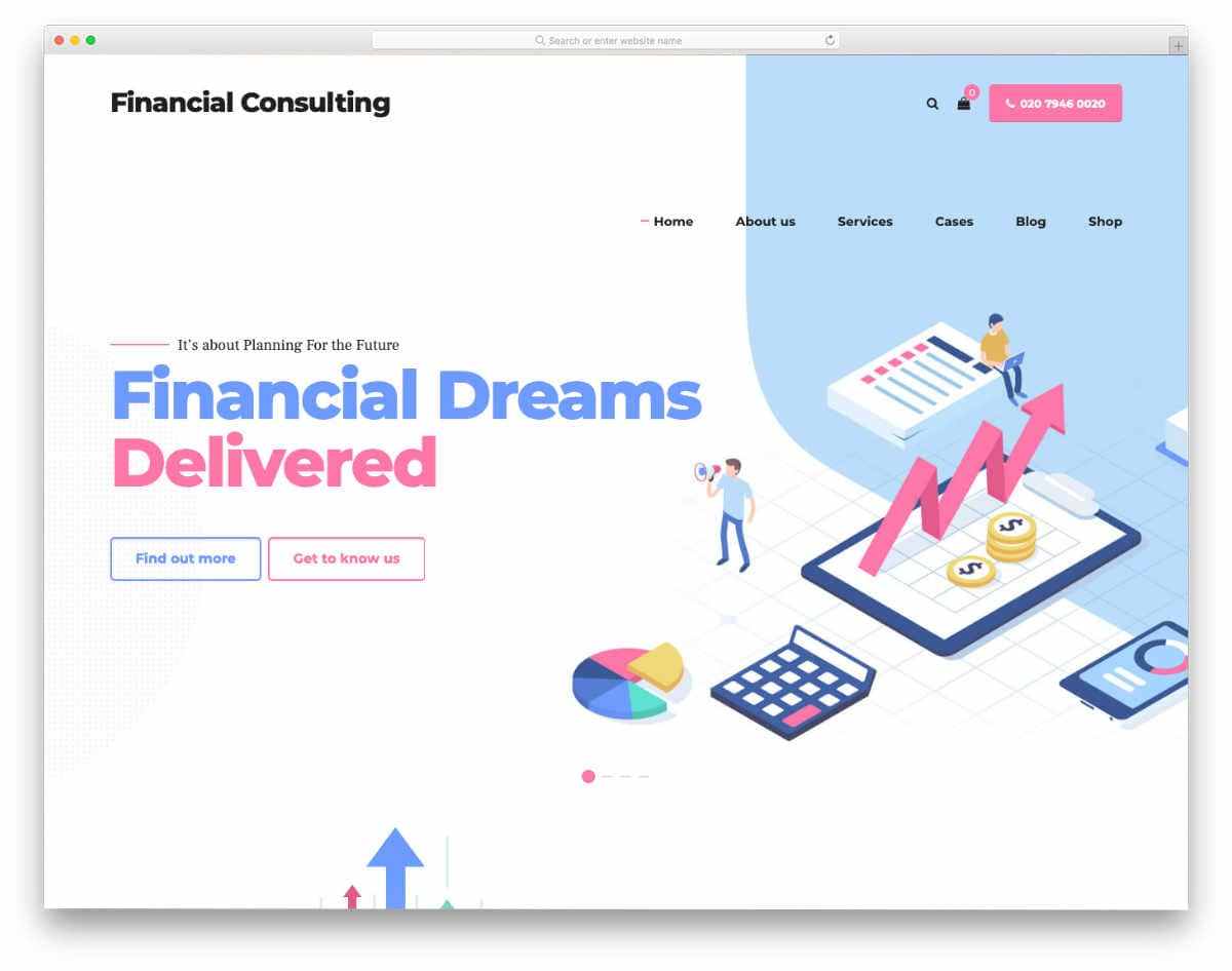 mulitpurpose financial website template
