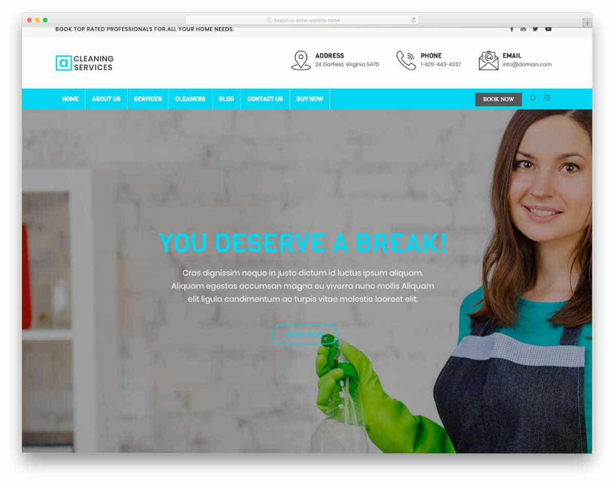 traditional looking website template
