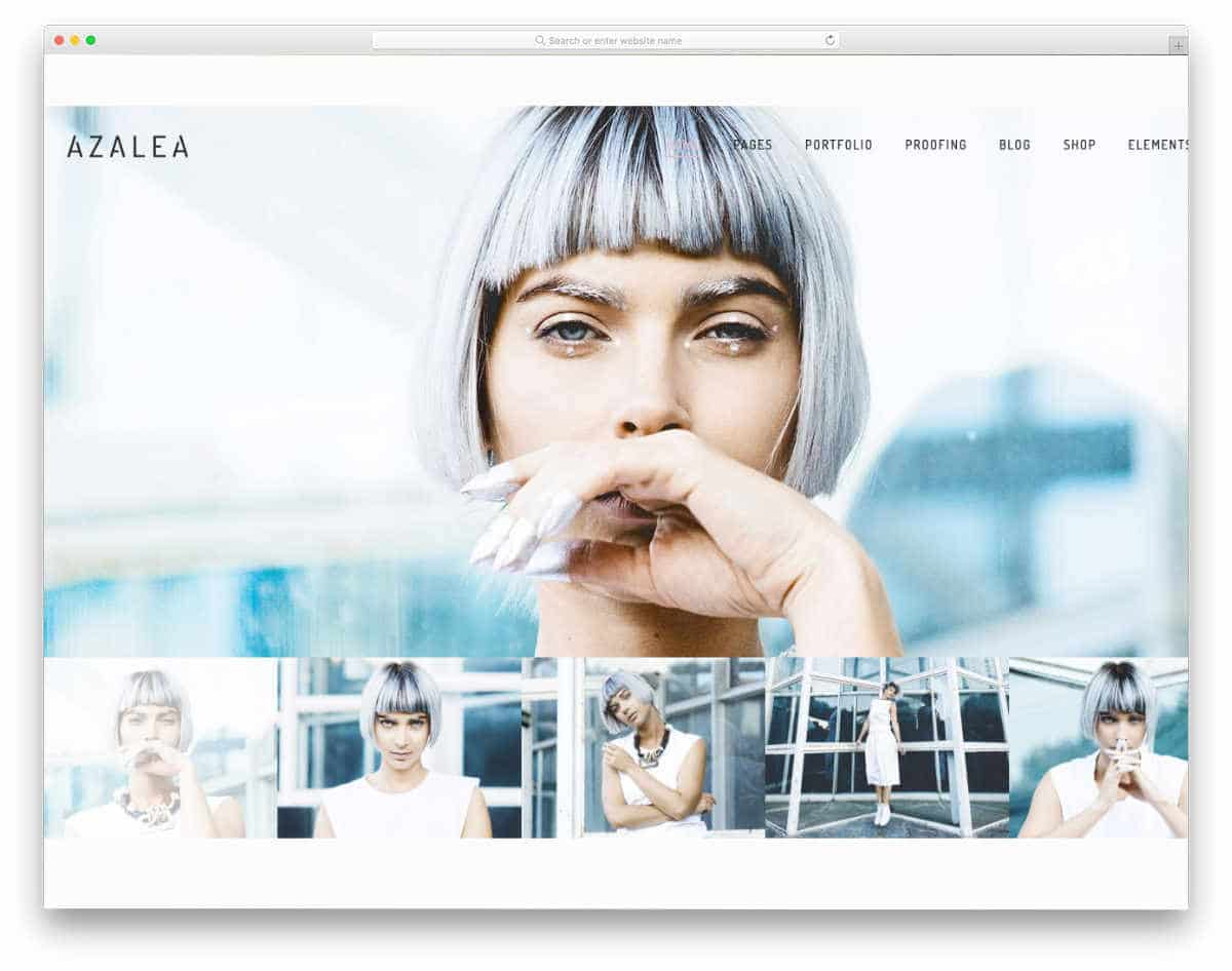 website template for fashion photograpers and videographers