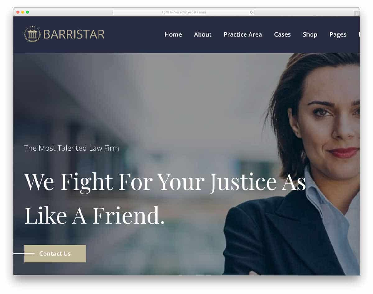 sophisticated notary website template