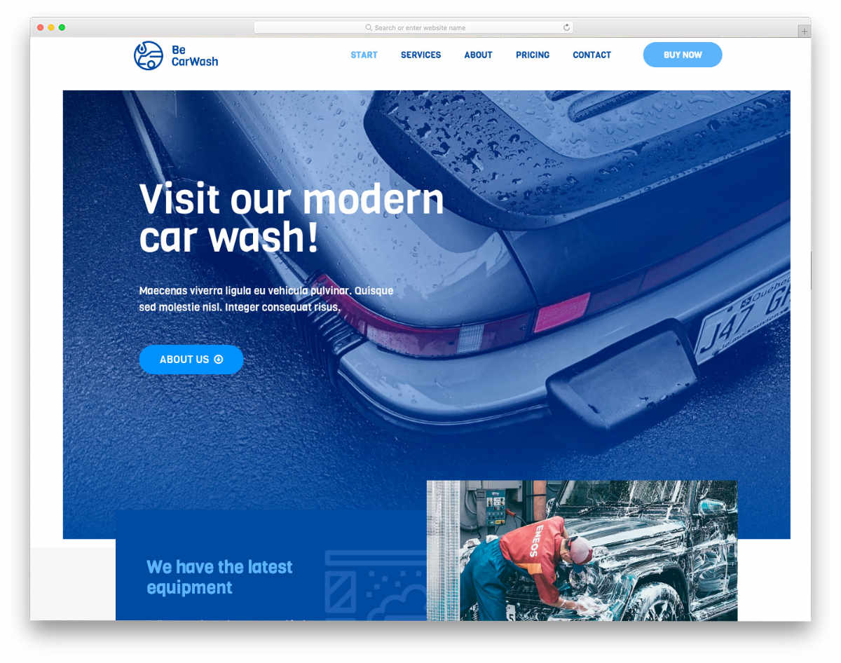 easy-to-customize auto detailing website template