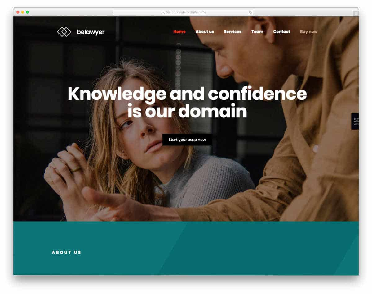 contemporary style website template