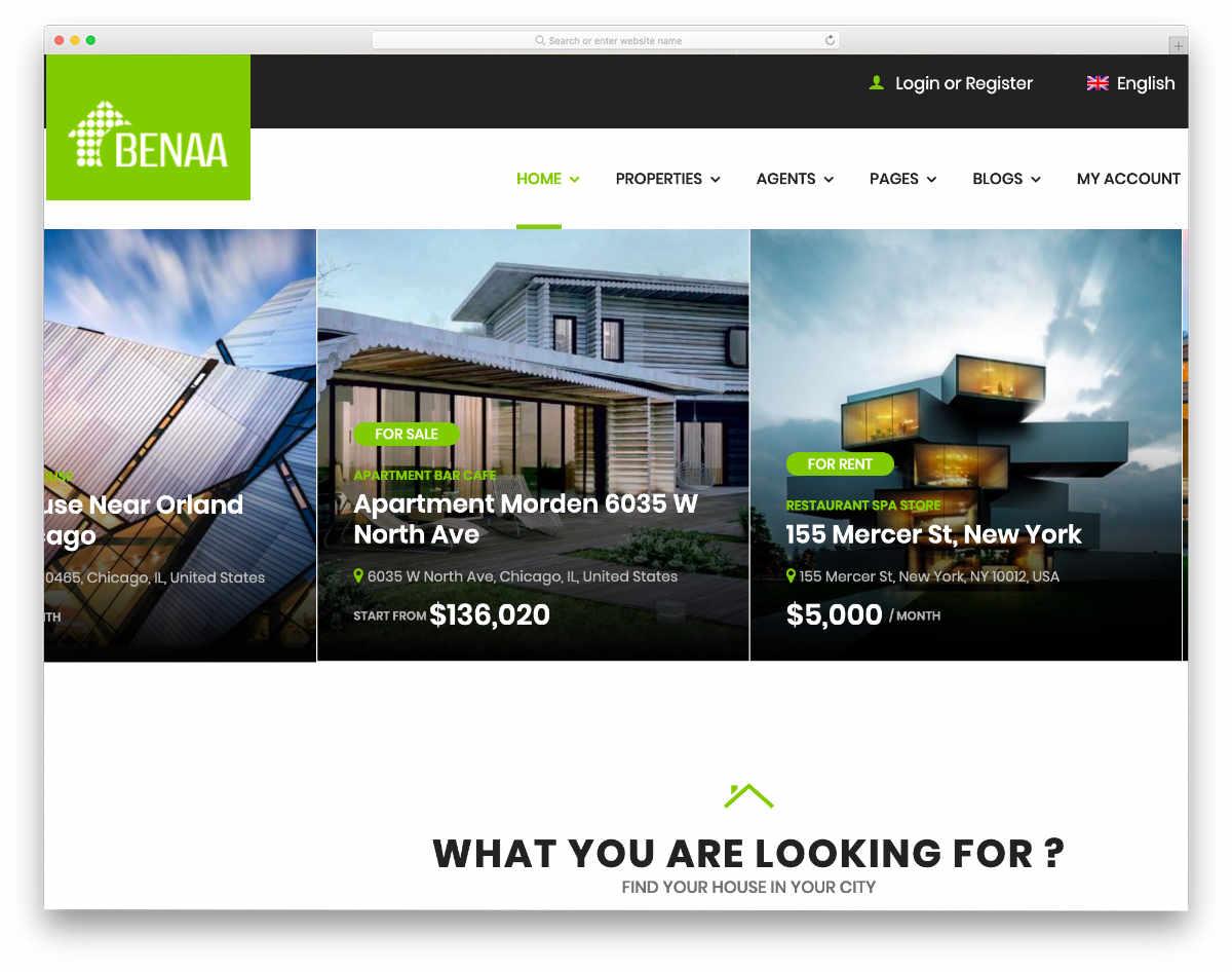 multipurpose real estate website template