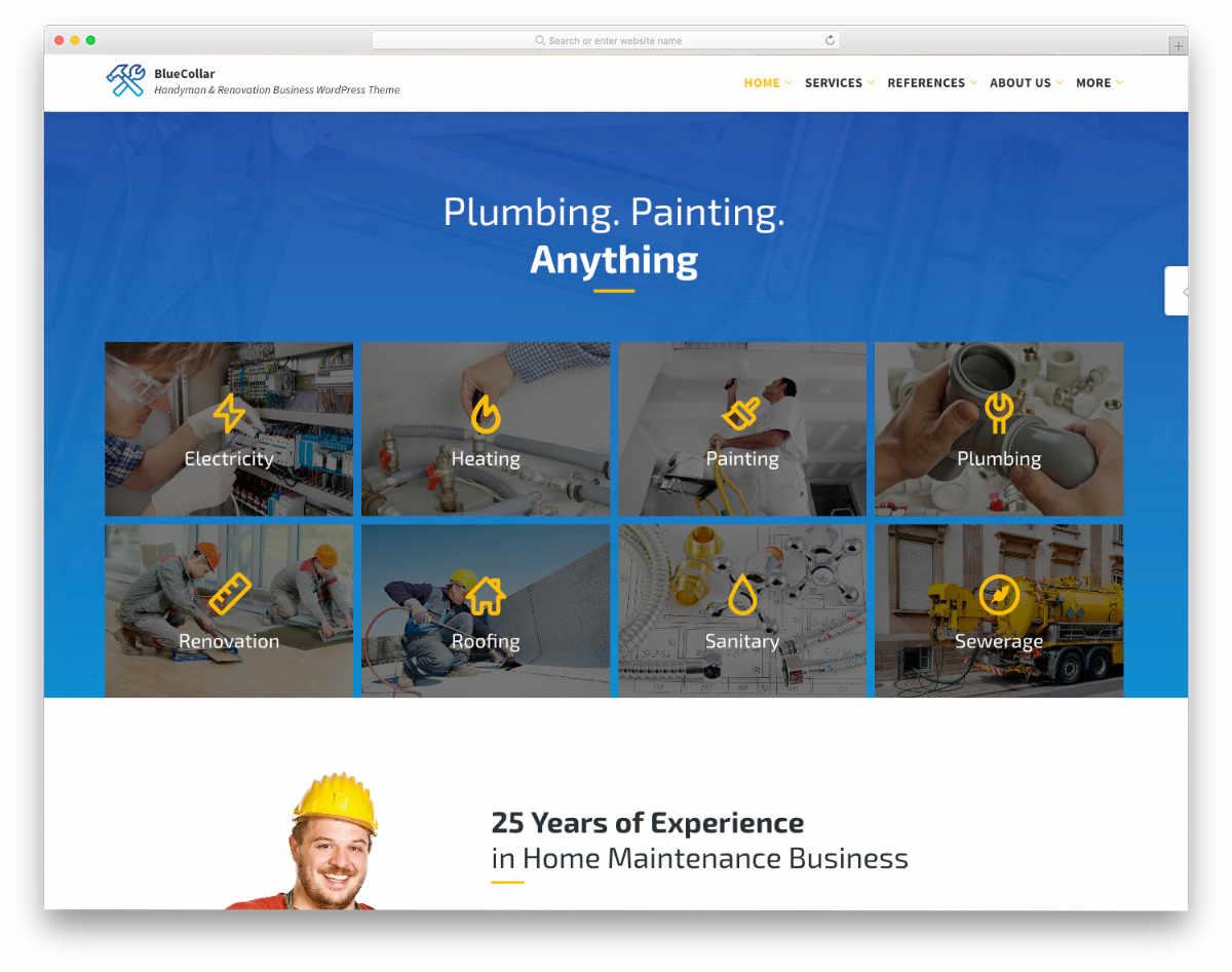 handyman and HVAC website template