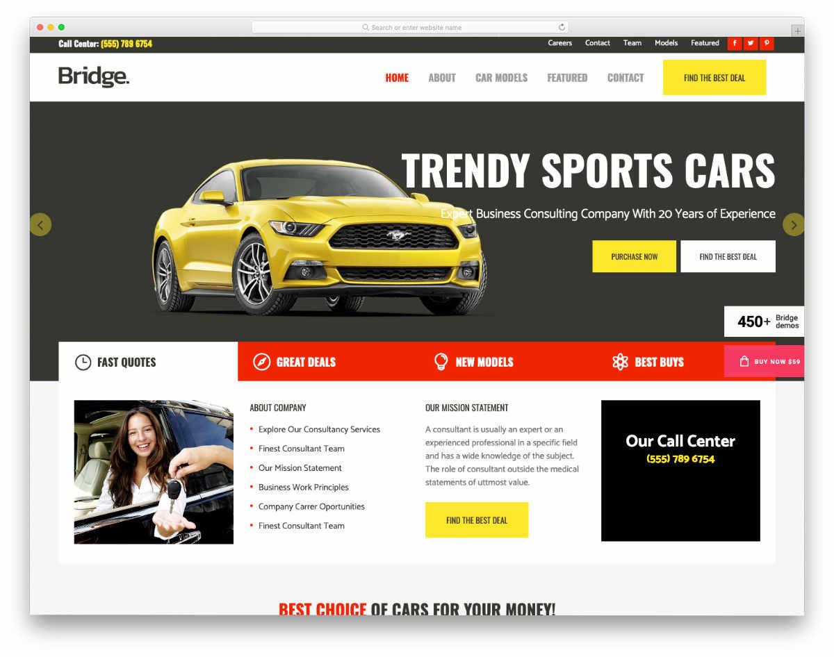 content-rich dealer website template