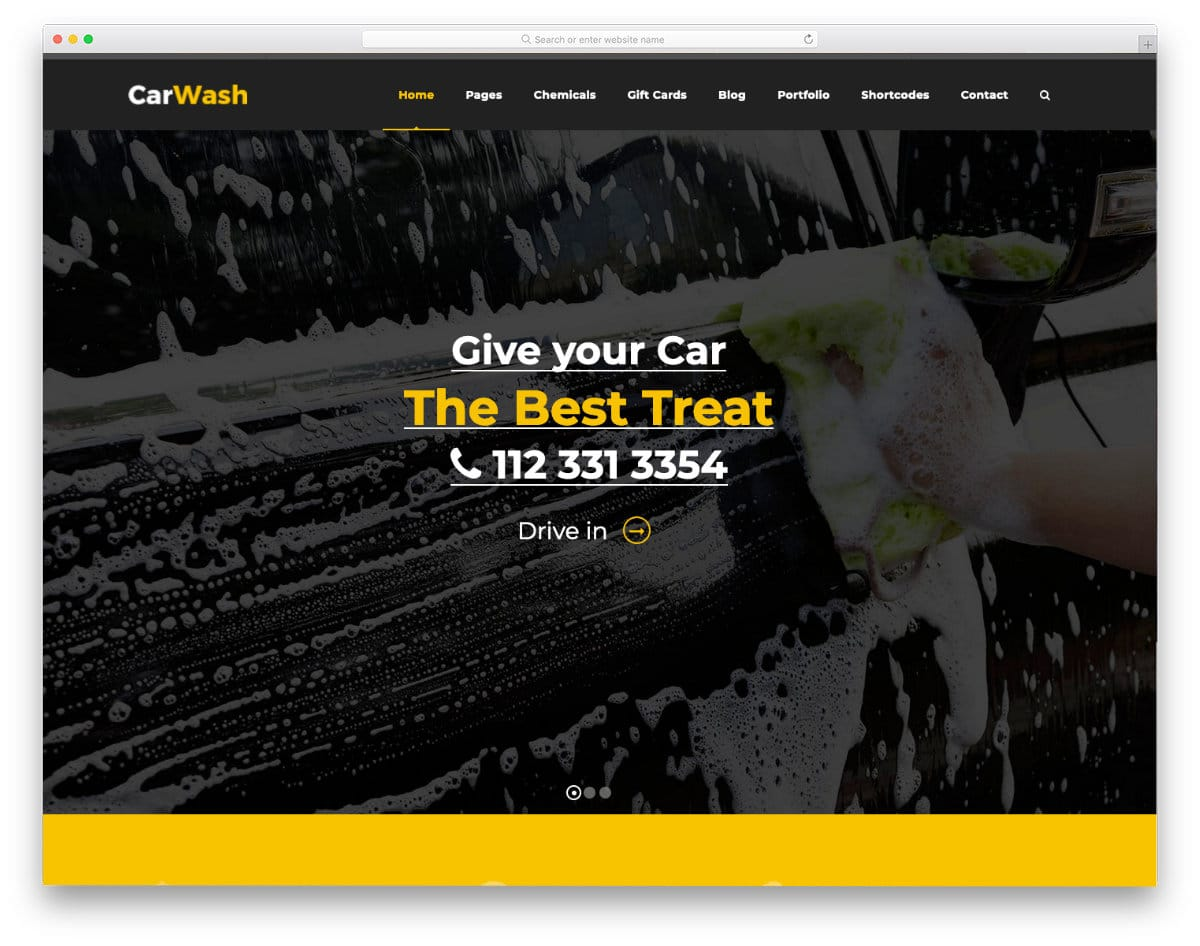 auto detailing and car wash website template
