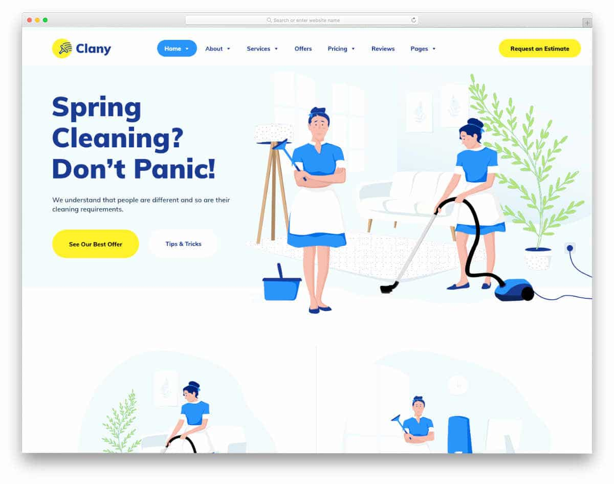 interactive carpet cleaning website template