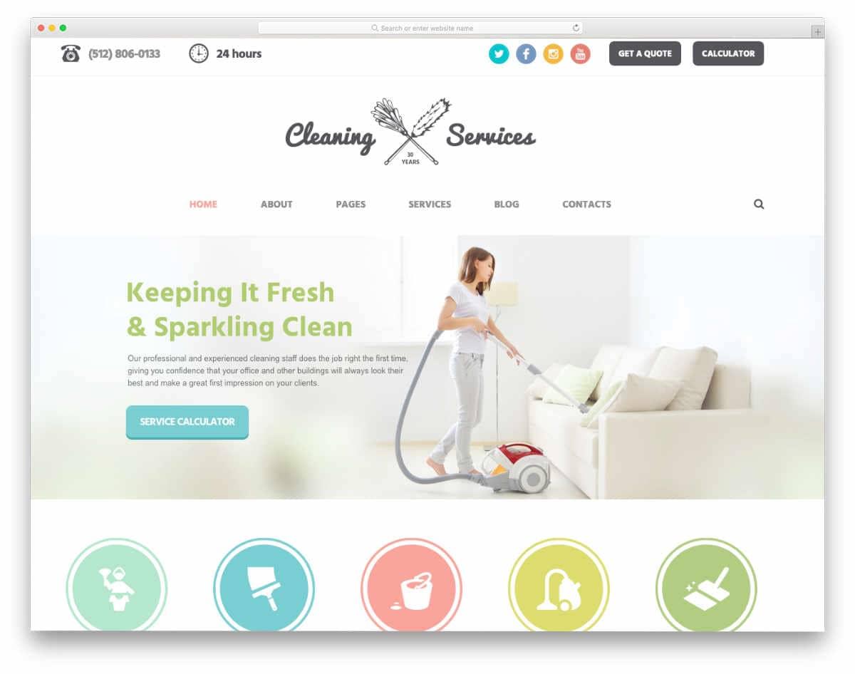 flat-style website template