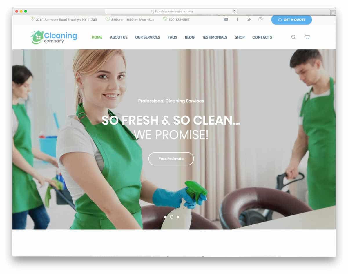 conversion-centered website template