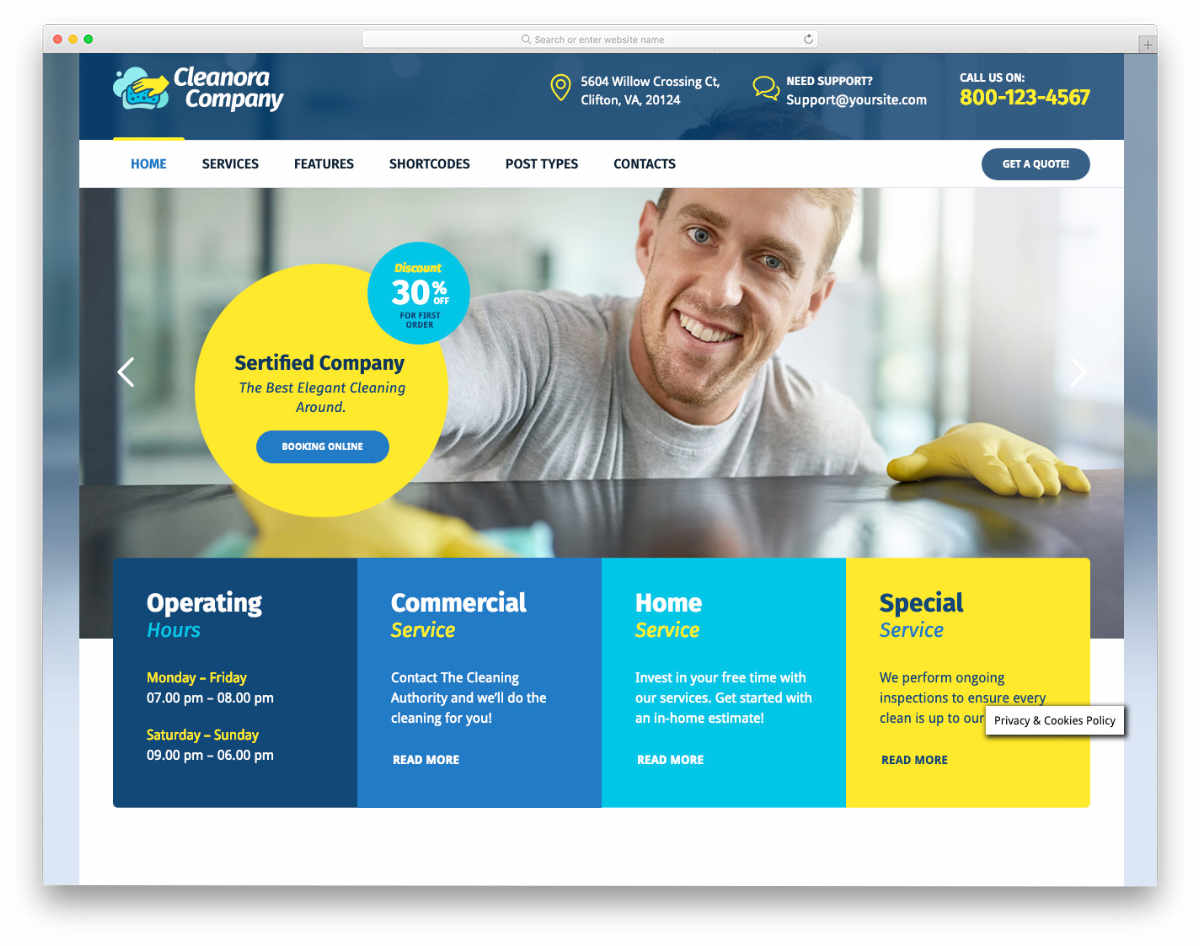 colorful poromtional style website template