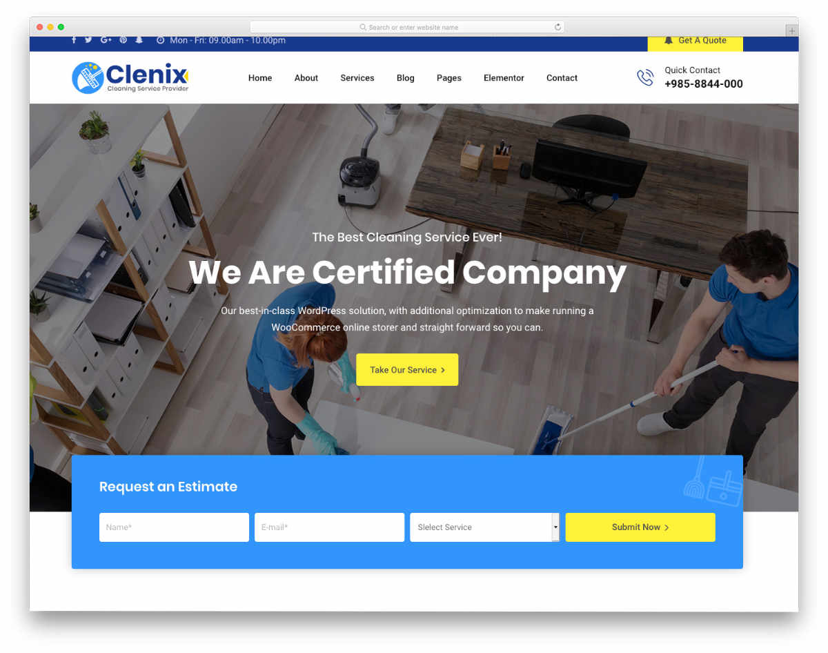 carpet cleaning website template with useful elements