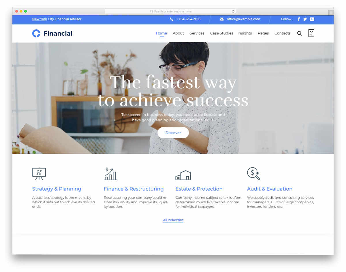 clean and sophisticated credit repair website templates