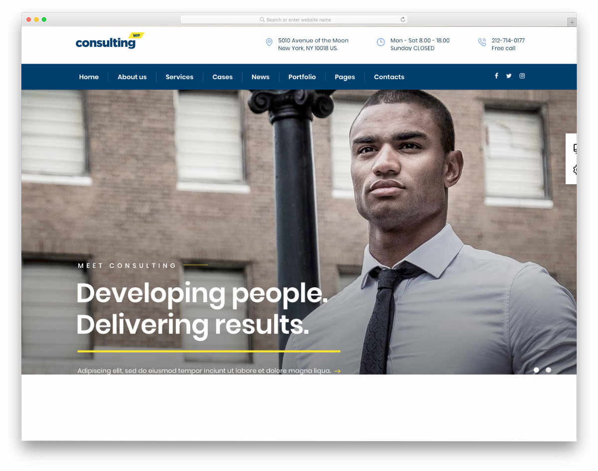multipurpose consulting business website template