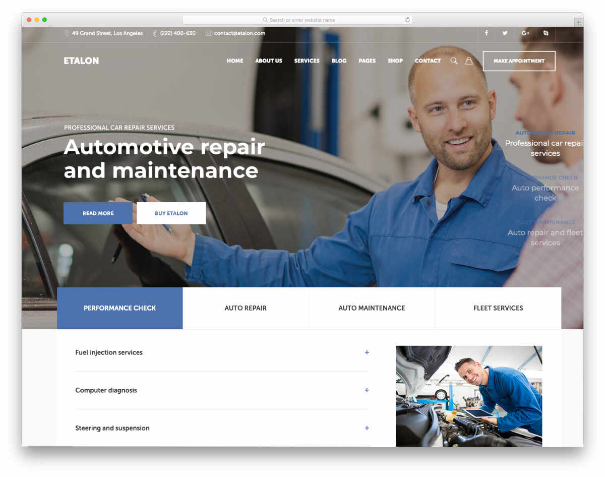 clean and user friendly auto detailing website template