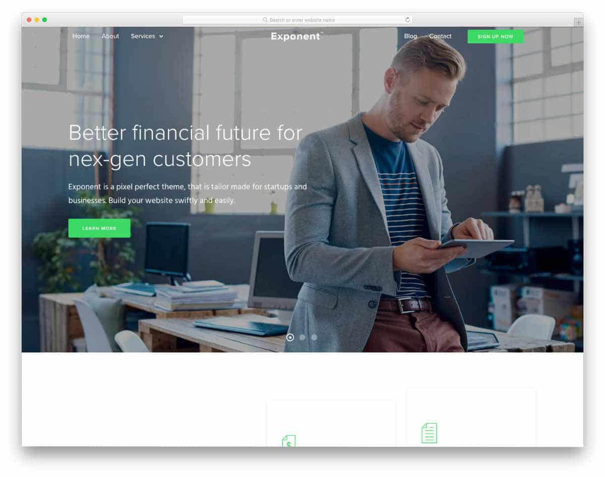 clean and elegant tax service website templates