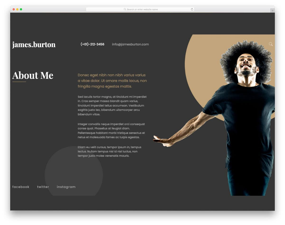cool WordPress themes for actors