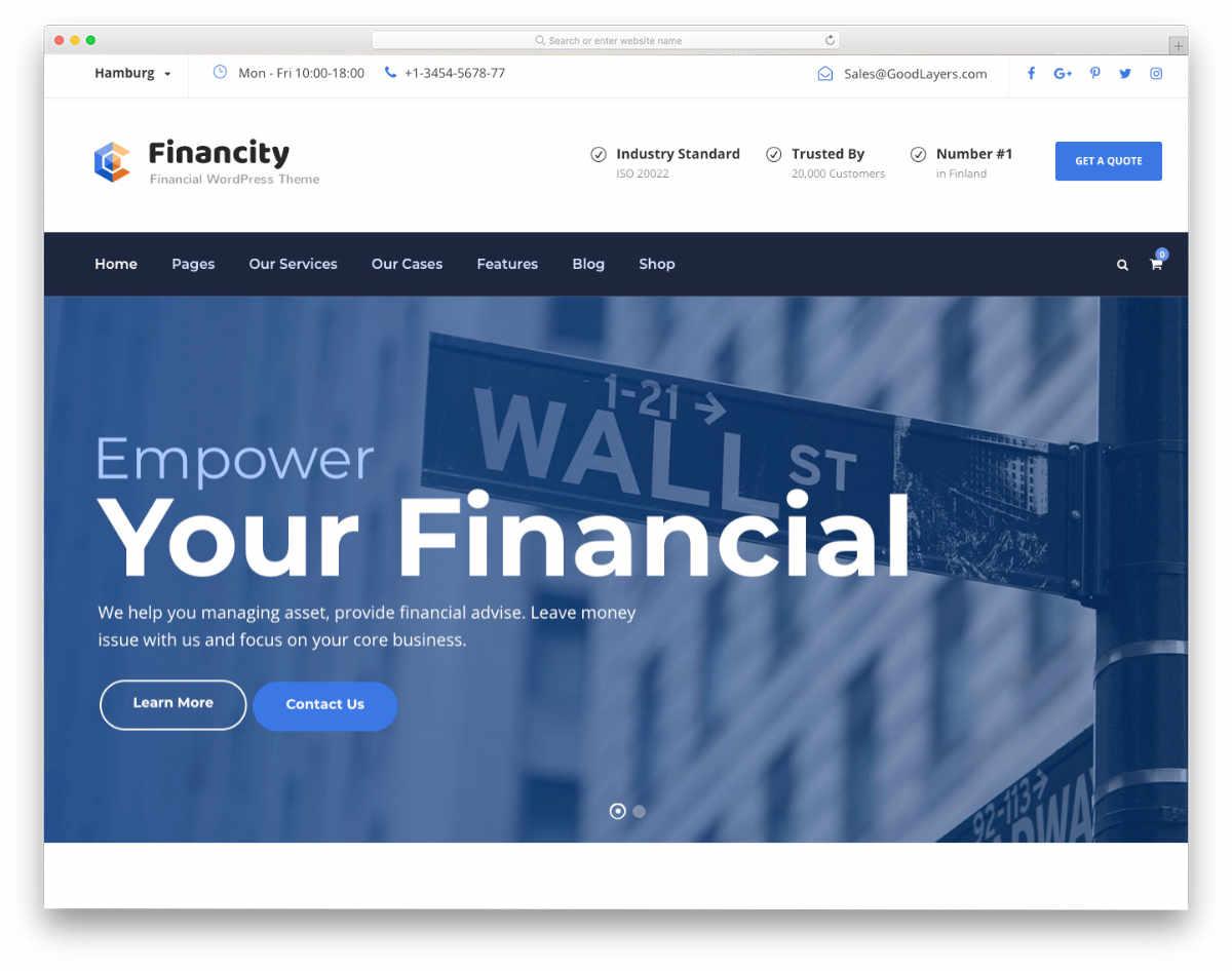multipurpose financial website template