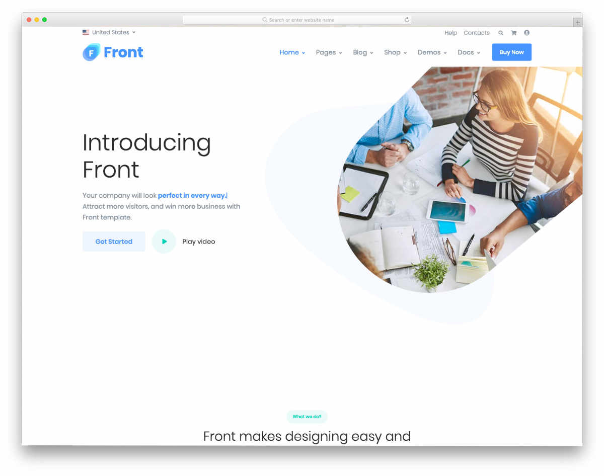 contemporary style website templates
