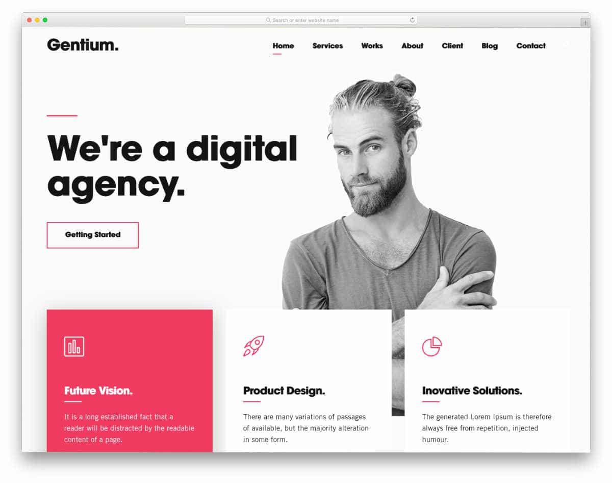 Fake Website Templates for digital agencies