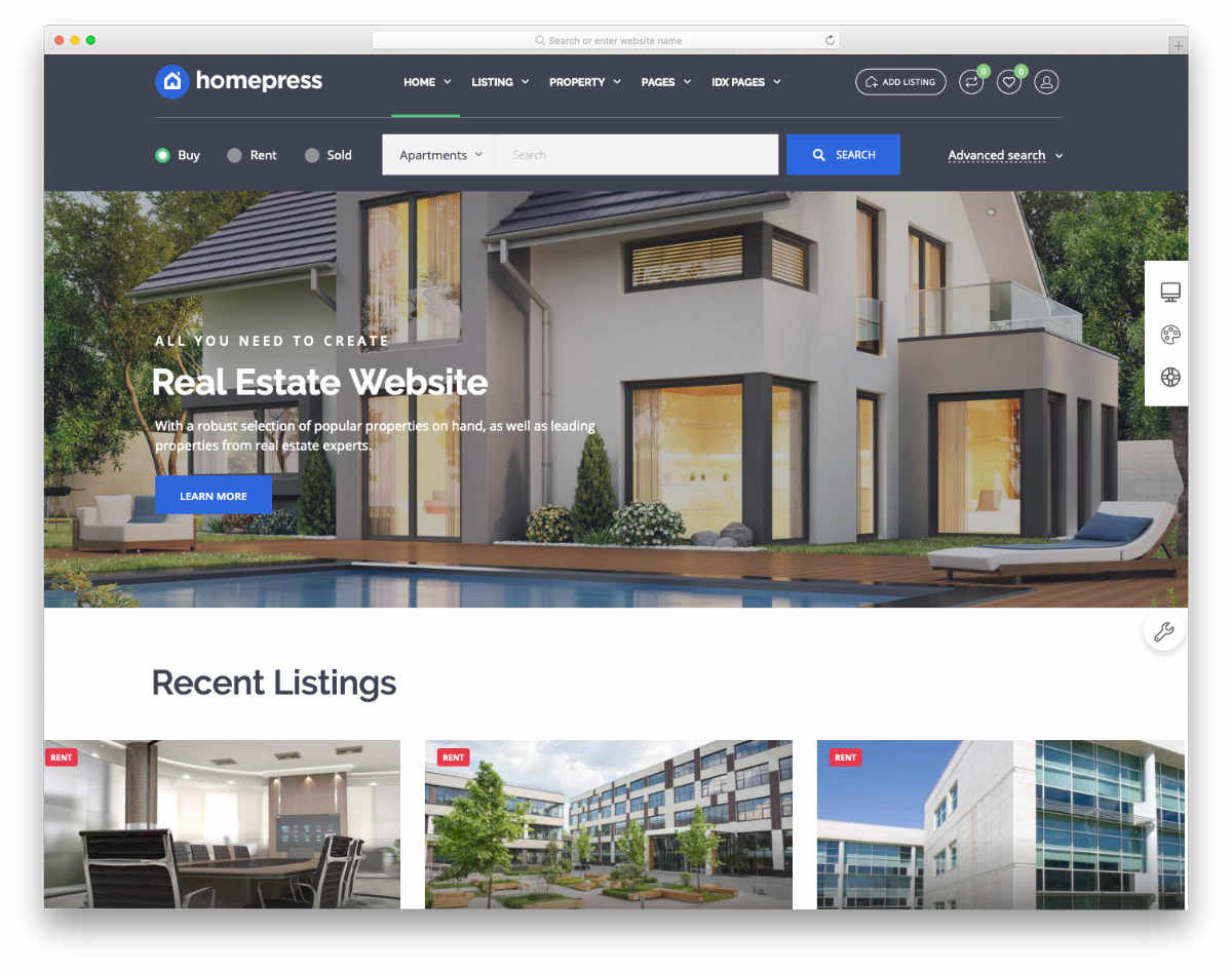 real estate investor templates and listing websites