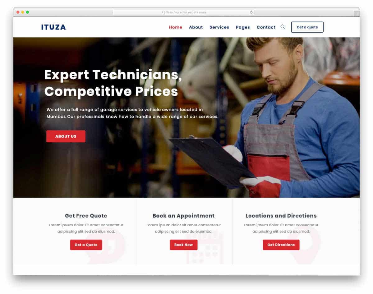multi purpose service business website template.