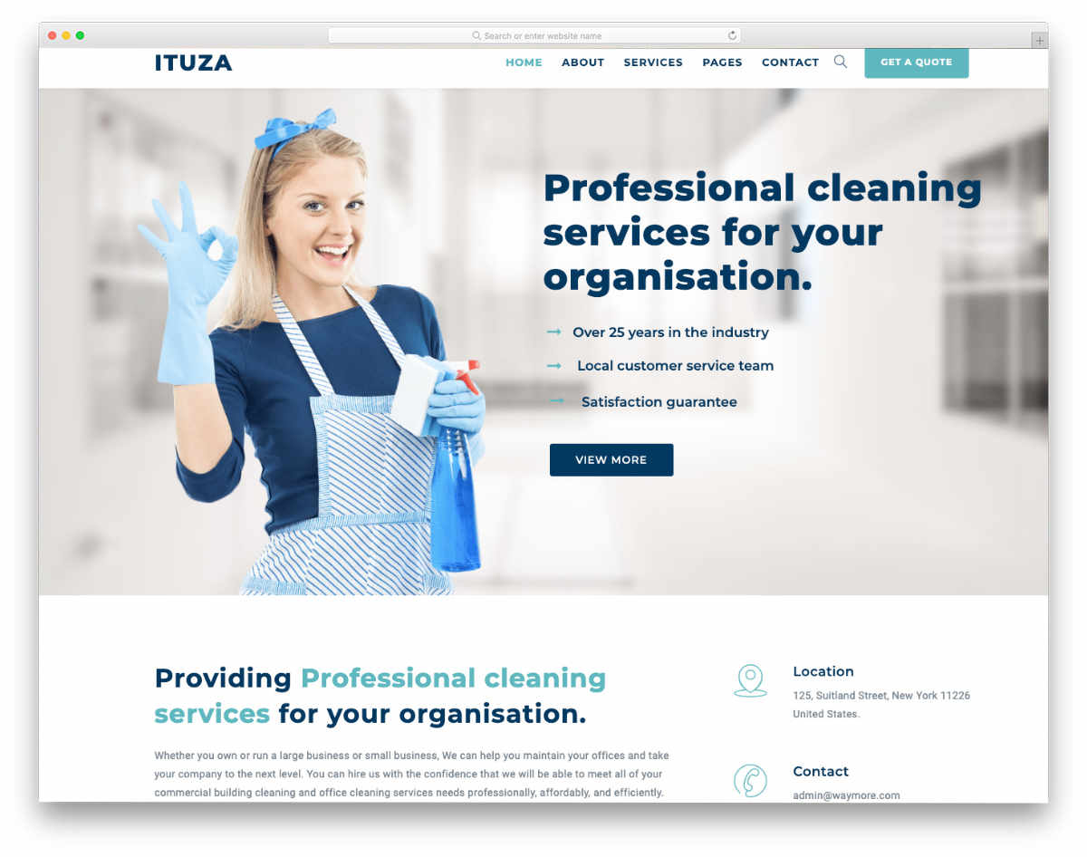 easy-to-edit carpet cleaning website template