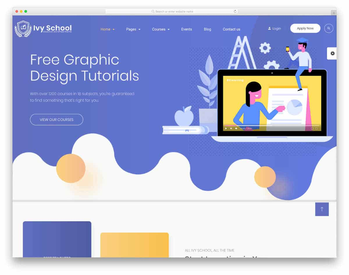 interactive Online Course WordPress Themes