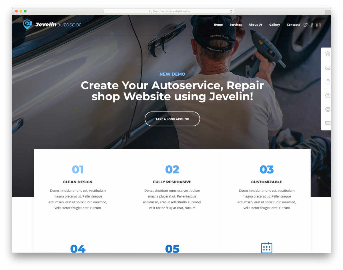 clean and modern looking website template