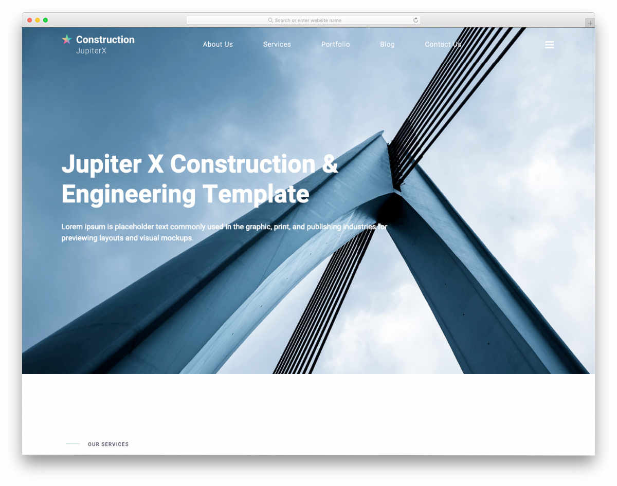 real estate and construction website template