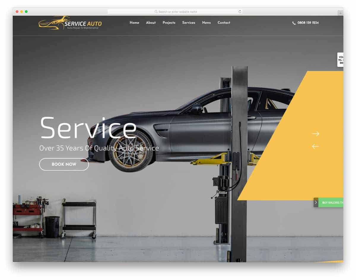 colorful and modern auto detailing website template