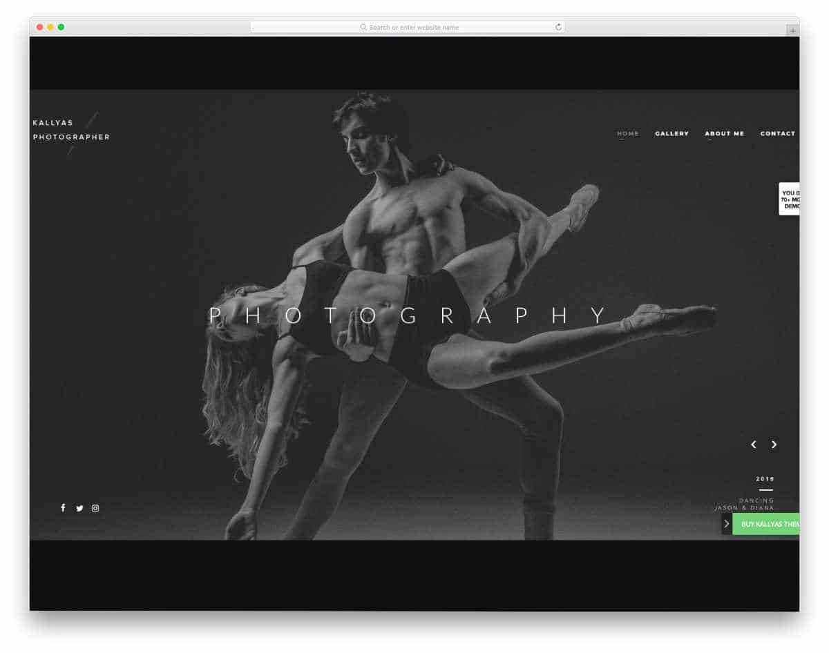 photography and actor wordpress theme