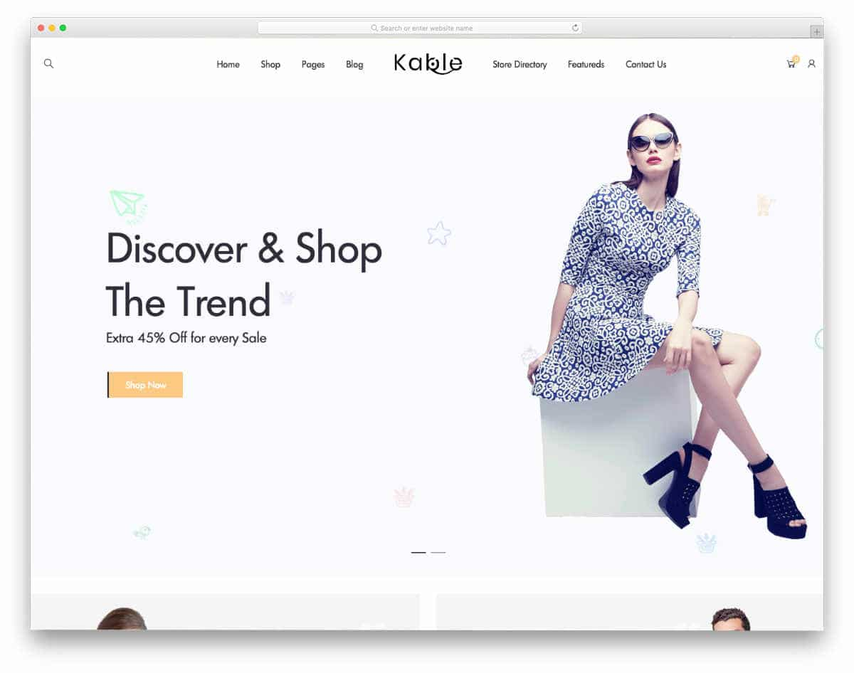 fashion store website templates