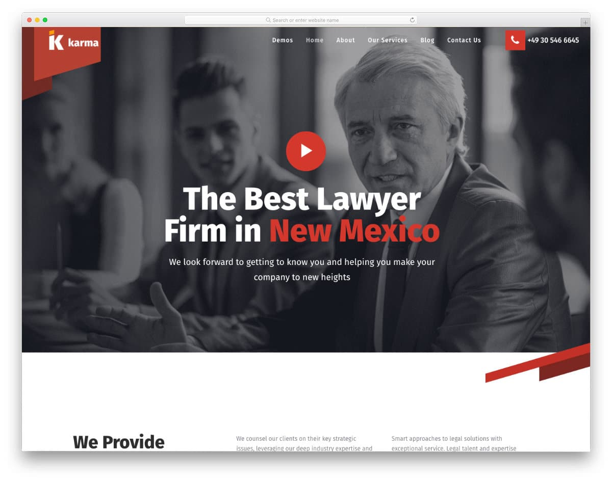 multipurpose business website template