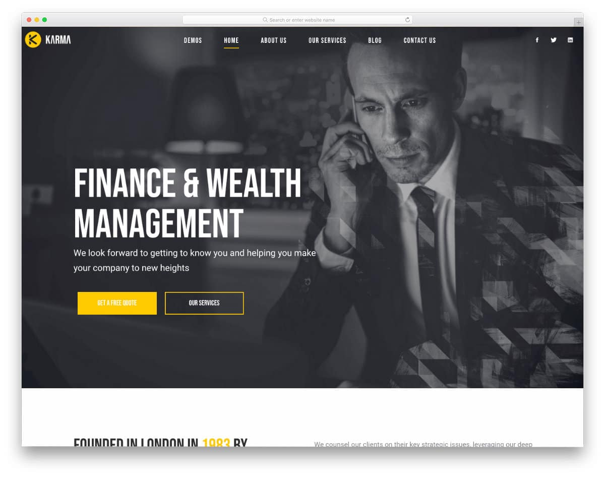 multipurpose business website template