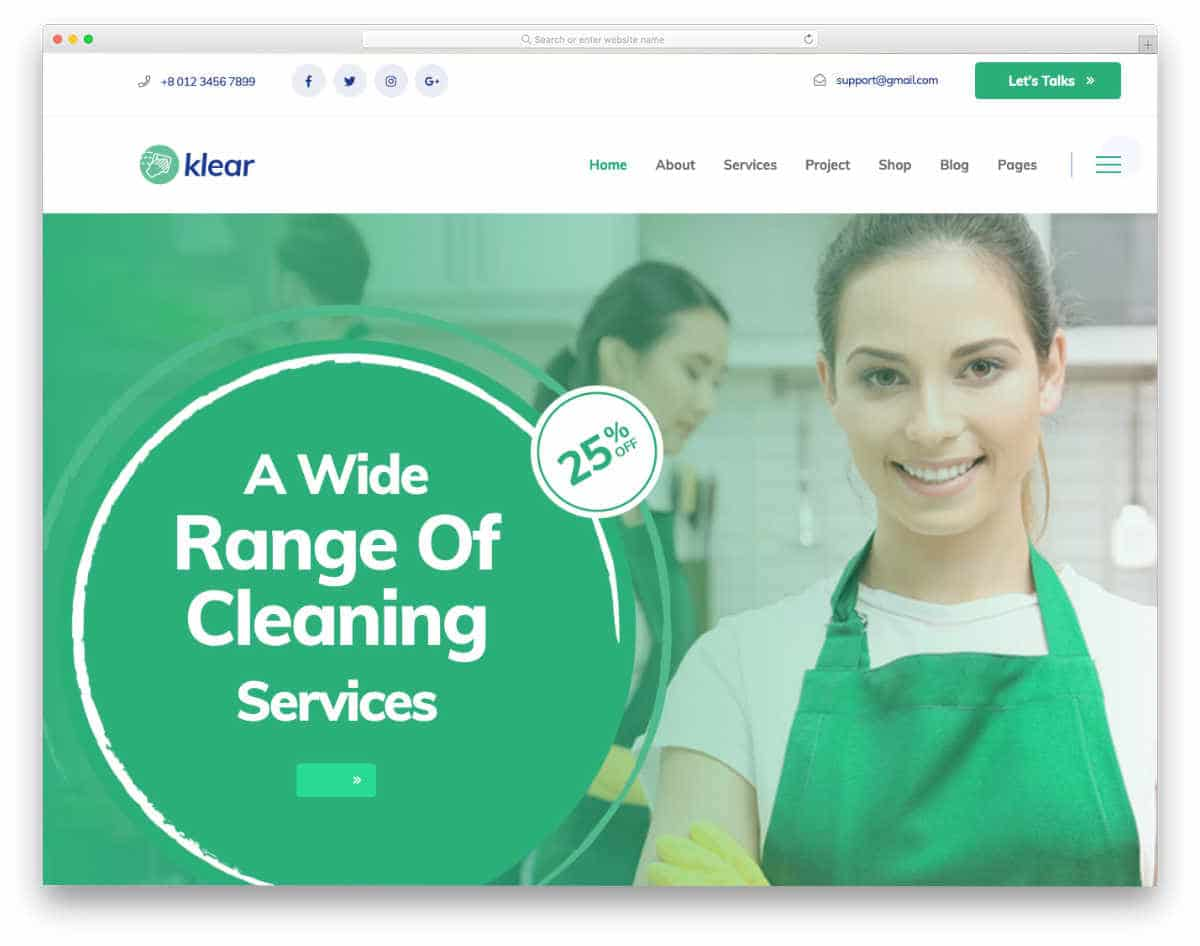 best carpet cleaning website template for new brands