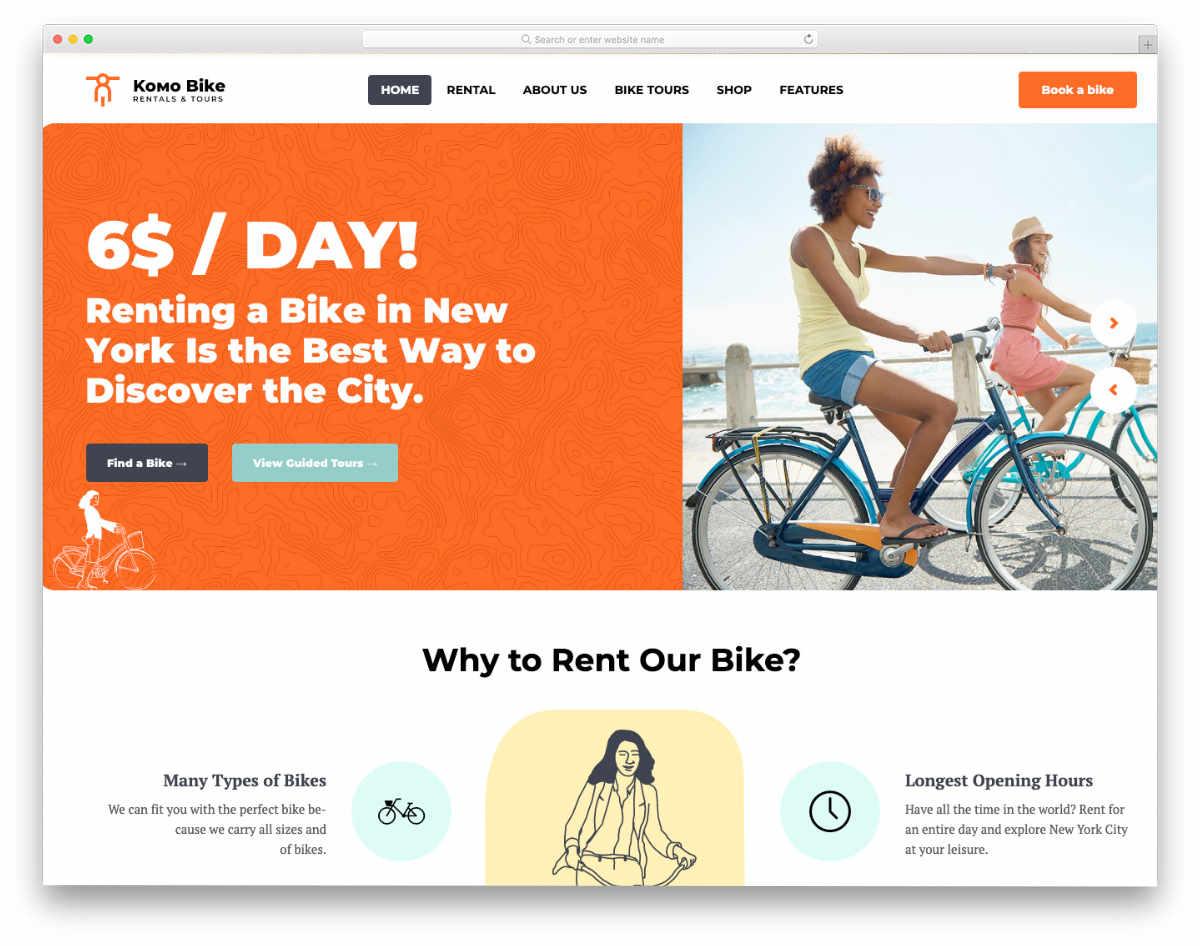 contemporary style brand-focused rental website template