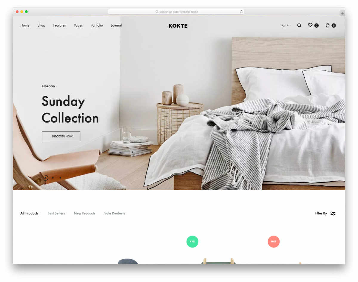 Fake Website Templates for online stores