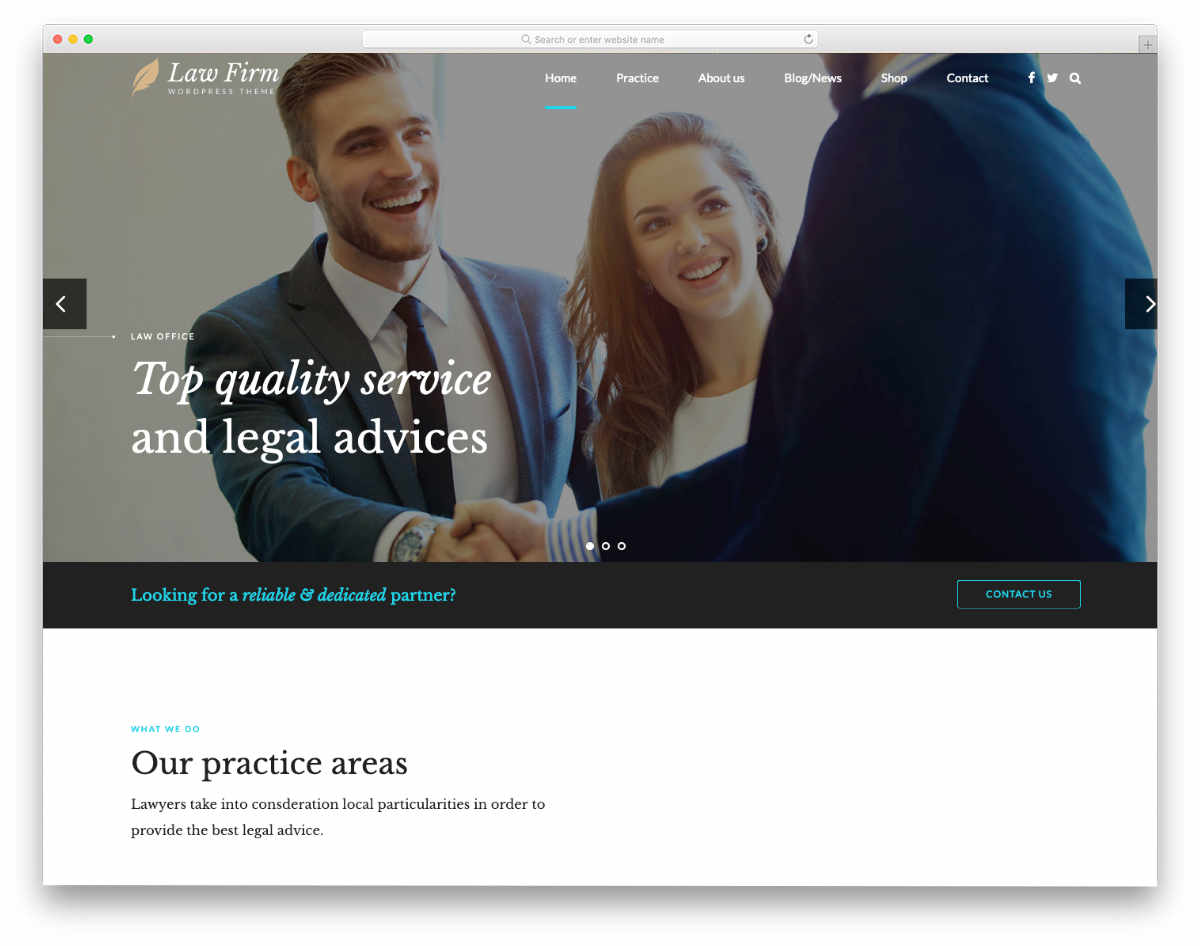 multipurpose law and law firm website template