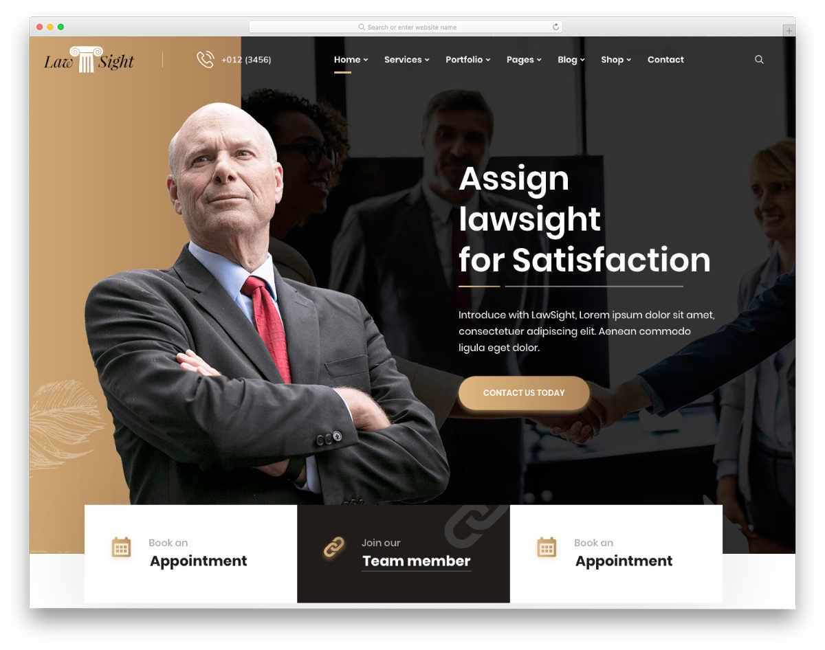 notary website template with useful features