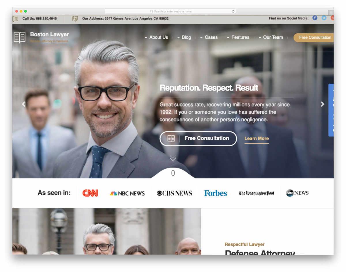 brand building website template
