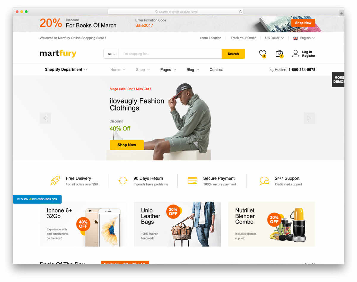 multipurpose eCommerce store website templates