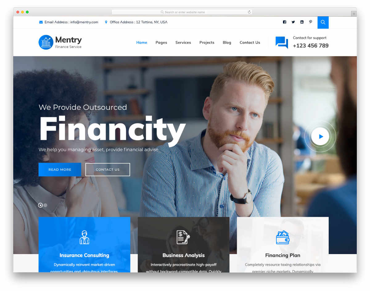 tax service website templates for modern users