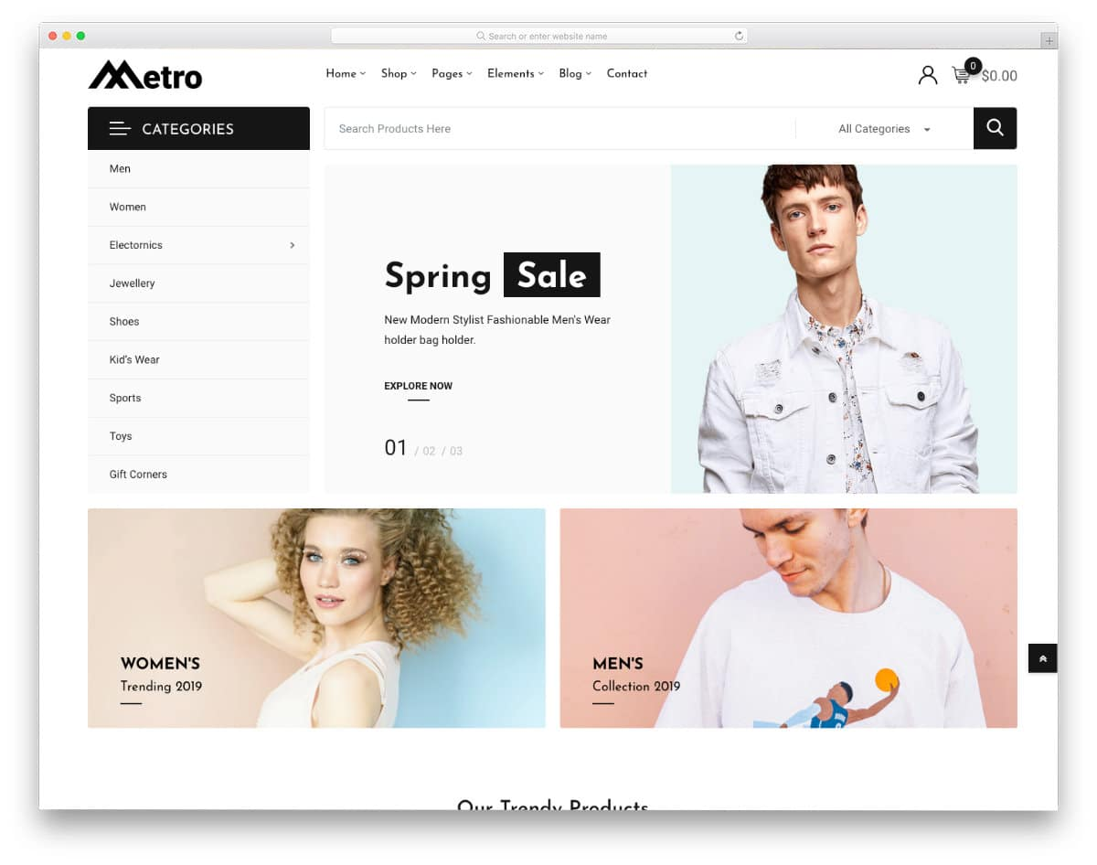 minimal eCommerce website template