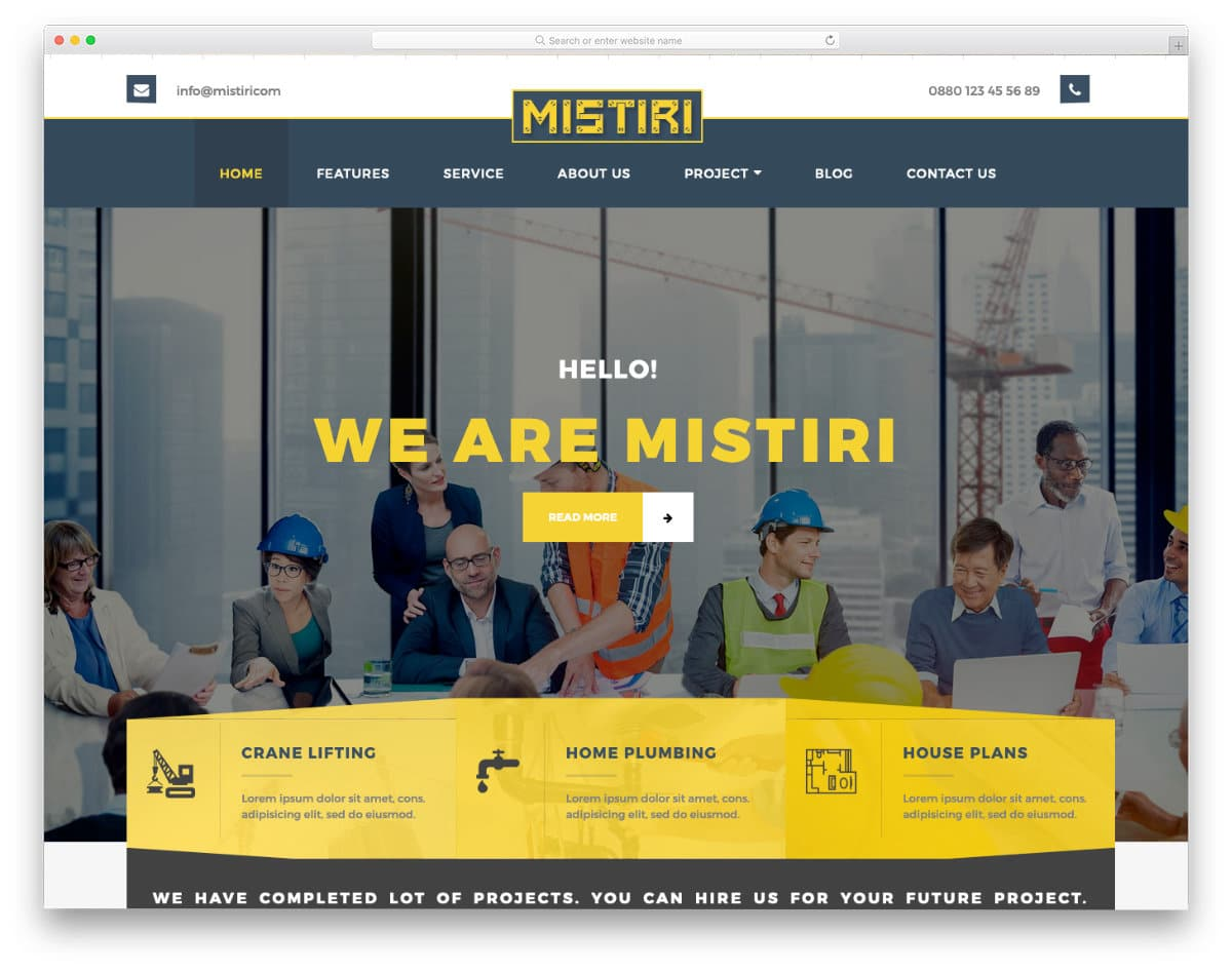 real estate construction and development investment company website template