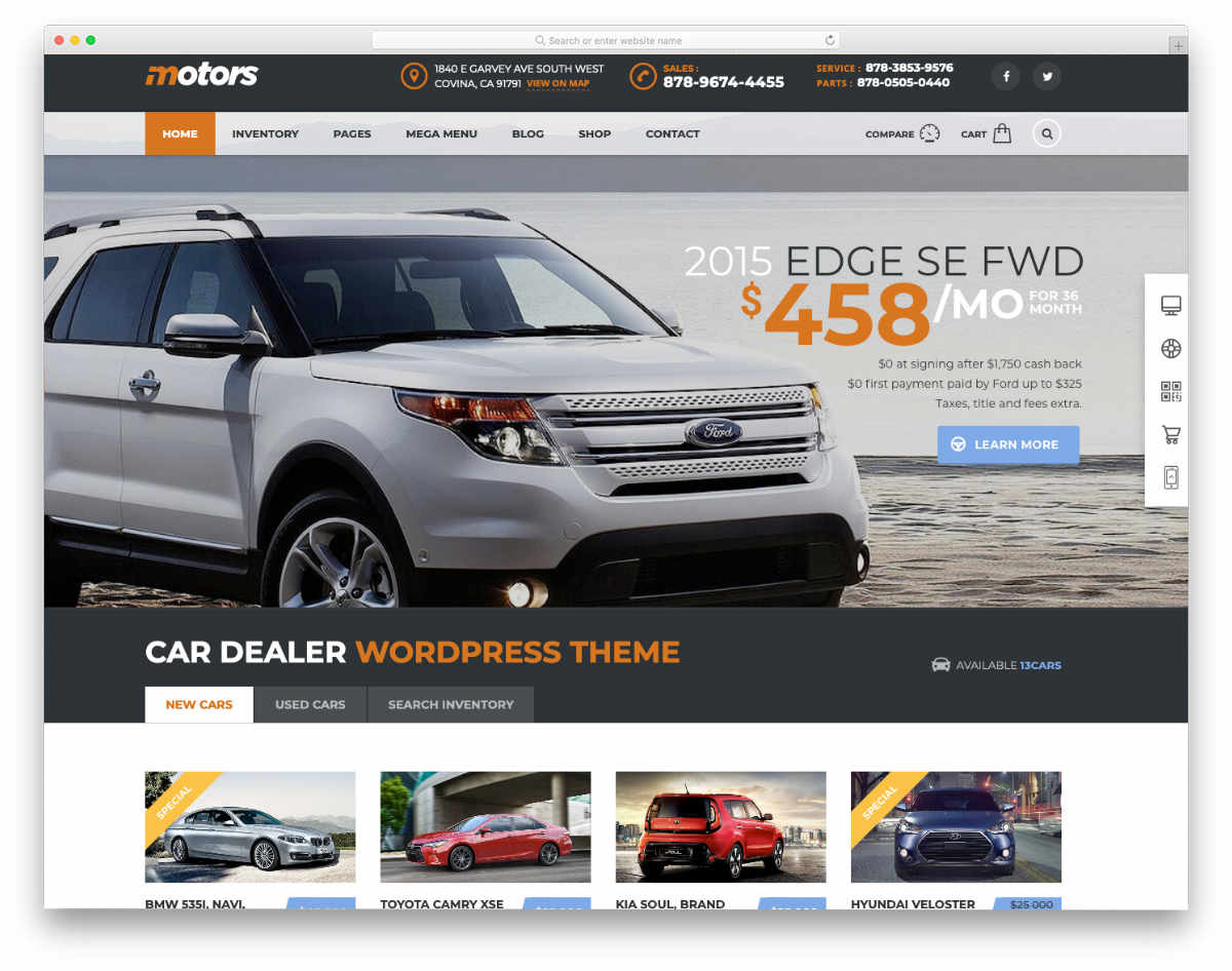 niche focused website template