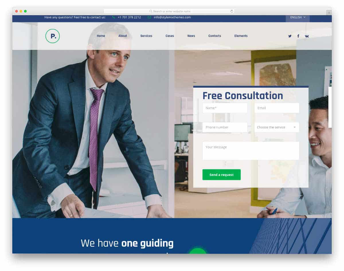 multipurpose modern business website template