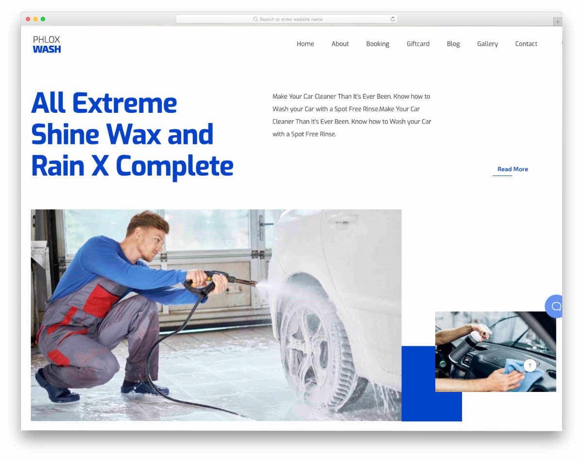 clean and interactive auto detailing website template